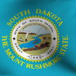 Flag of South Dakota, USA - Stock Photo
