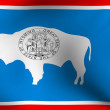 Flag of Wyoming, USA — Stock Photo