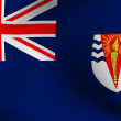 Flag of British Antarctic Territory - Stock Photo
