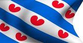 Flagga friesland, nederländerna — Stockfoto