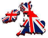 Mapa velká británie — Stock fotografie