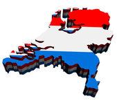Map of Netherlands — Stock Photo