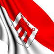 Stock Photo: Flag of Vorarlberg