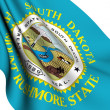 Flag of South Dakota, USA — Stock Photo