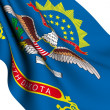 Foto Stock: Flag of North Dakota, USA
