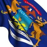 Flag of Michigan, USA — Stock Photo