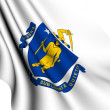 Flag of Massachusetts, USA — Stock Photo