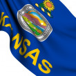 Flag of Kansas, USA - Stock Photo