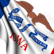 Flag of Iowa, USA — Stock Photo
