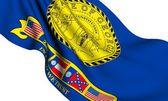 Flag of Georgia, USA (2001-2003) — Stock Photo
