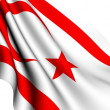 Flag of Northern Cyprus — Stock Photo