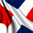 Flag of Dominican Republic — Stock fotografie