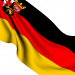 Flag of Rhineland-Palatinate, Germany - Stock Photo