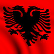 Flag of Albania - Stock Photo