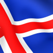 Flag of Iceland — Stock Photo #4486308