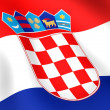 Flag of Croatia - Foto de Stock  