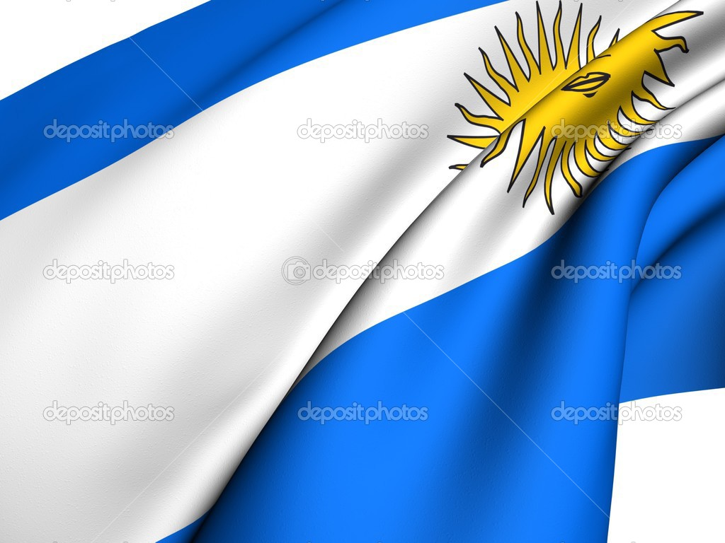 Flag of Argentina against white background. Close up.  — Stock Photo #4606907