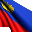 Flag of Liechtenstein - Stock Photo