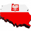 map of poland — Stock Photo
