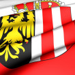 Flag of Upper Austria - Stock Photo