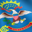 Foto Stock: Flag of North Dakota, USA.