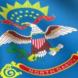 Bandeira da Dakota do Norte, EUA — Foto Stock