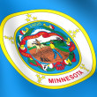 Stock Photo: Flag of Minnesota, USA.