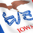 Flag of Iowa, USA. - Stock Photo