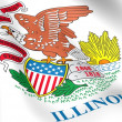 Flag of Illinois, USA. - Stock Photo