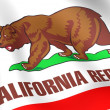 Stock Photo: Flag of California, USA.