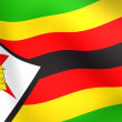 Flag of Zimbabwe - Stock Photo