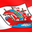 Flag of Bremerhaven city, Germany. — Stock Photo