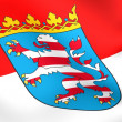 Flag of Hessen, Germany. - Stock Photo