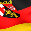 Flag of Rhineland-Palatinate, Germany. — Stock Photo