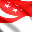 Flag of Singapore — Stock Photo #4876855