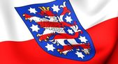 Flag of Thuringia, Germany. — Stock Photo
