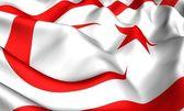 Flag of Northern Cyprus — Stock Photo