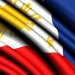 Flag of Philippines — Stock Photo #4970285
