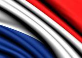 荷兰的旗子 — 图库照片