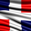 Flag of Dominican Republic — Stok fotoğraf