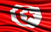 Flag of Tunisia — Stock Photo