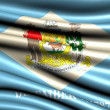 Flag of Delaware - Stock Photo