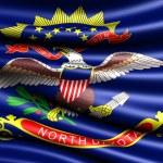 国旗的北达科他州 — 图库照片