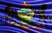 宾夕法尼亚州的旗子 — 图库照片