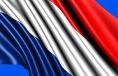 Flagga nederländerna — Stockfoto