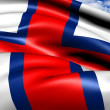 Flag of Faroe islands — Stok fotoğraf