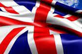 Flagga för uk — Stockfoto