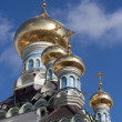 Orthodox cupolas — Stock Photo