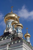 Orthodox cupolas — Stock Photo