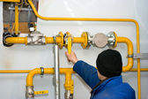 Novo post de distribuição de gás — Fotografia Stock